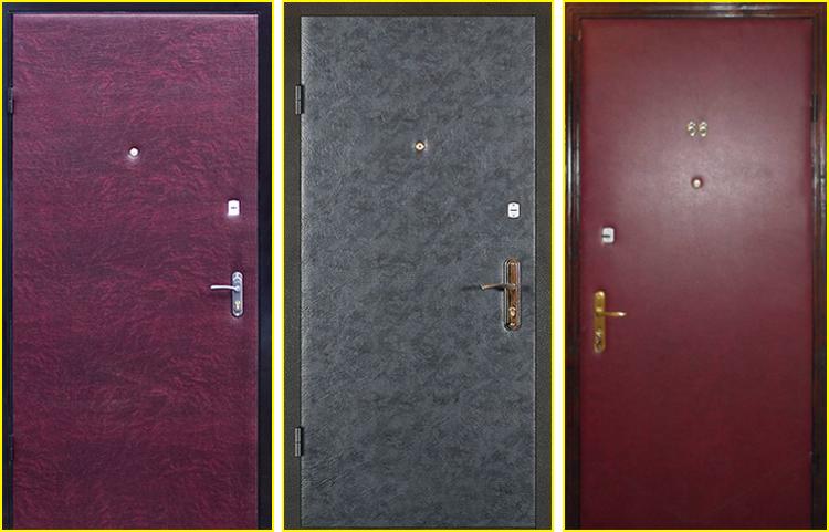 входные двери в квартиру из кожзама